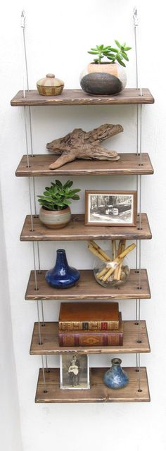 shelves, industrial shelves, wall shelves, floating shelf, hanging shelves, rustic furniture #modernrusticfurniture