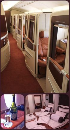 Luxury air travel flying Singapore Airlines Suites