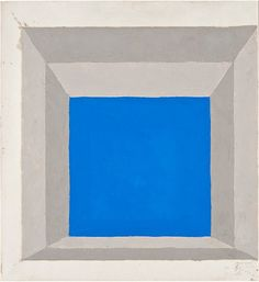 Josef Albers  Study for mitered square (blue), 1964 oil on blotting paper 33 x 30 cm