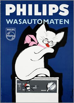 Voor Philips wasautomaten 1967