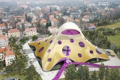 The Blob, National Libarary in Prague, by Jan Kaplicky
