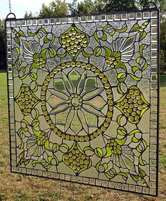 Lemon Sundrop Beveled and Stained Glass Window