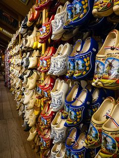 Wall of Wooden Shoes