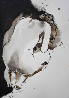 Nu à l'encre. Nature Drawing, Life Drawing, Painting People, Figure Painting, Value In Art, Figure Sketching, Tinta China, Foto Art, Art Model
