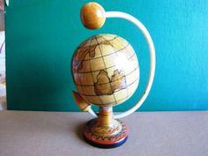 USSR space souvenir rocket satelite globe vintage Soviet April 12 1961 Gagarin