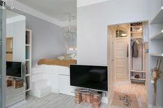 Egyszobás kislakás, kreatívan My Dream Home, Oversized Mirror, Brick, Loft, Rustic, Furniture, Bedroom Ideas, Home Decor, Mini
