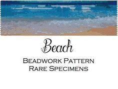 Beach Peyote Stitch Beadwork Pattern  Cuff by RareSpecimens