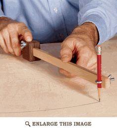 Scrapwood Trammel Woodworking Plan