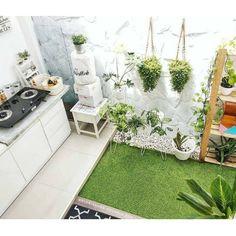 Small outdoor patio design inspiration 65 ideas for 2019 Home Room Design, Home Design Plans, House Design, Small Outdoor Patios, Outdoor Patio Designs, Backyard Kitchen, Home Decor Kitchen, Small Space Gardening, Interior Garden