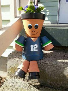 Clay Pot People Football Ideas
