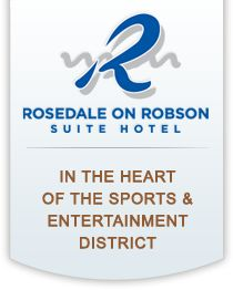 The Rosedale on Robson Suite Hotel in Vancouver features 217 spacious one and two bedroom suites and penthouses Vancouver Hotels, Downtown Vancouver, Two Bedroom Suites, Pent House, Entertaining, Places, Lugares