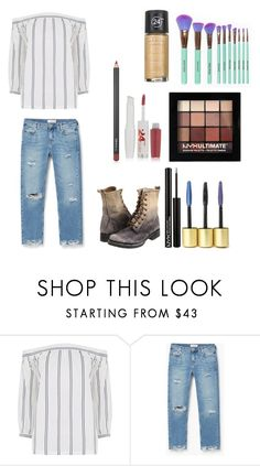 """Untitled #498"" by rasberry893 on Polyvore featuring Warehouse, MANGO, Frye, Maybelline and NYX"
