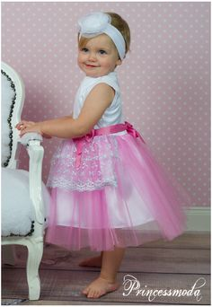 Besonders schönes Festkleid Lulu für Ihre Prinzessin - Princessmoda - Alles für Taufe Kommunion und festliche Anlässe