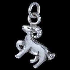 Silver pendant, Aries Silver pendant, Ag 925/1000 - sterling silver. Aries. Dimensions approx. 15x13mm.