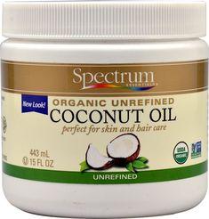 Spectrum Organic Coconut Oil, Unrefined, 15 Oz