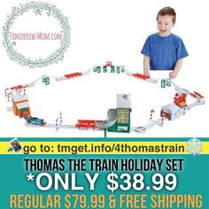 Thomas Train Set $38.99 (Regular $79.99)  FREE SHIPPING Click link in my bio @tomorrowsmom -read . .  Type this link on your browser: . http://tmget.info/4thomastrain  or follow the link in my Bio a@Tomorrowsmom at TomorrowsMom.com #tomorrowsmom . #holidays #christmas #gifts #frugal #savings #deals #couponcommunity #fitcommunity