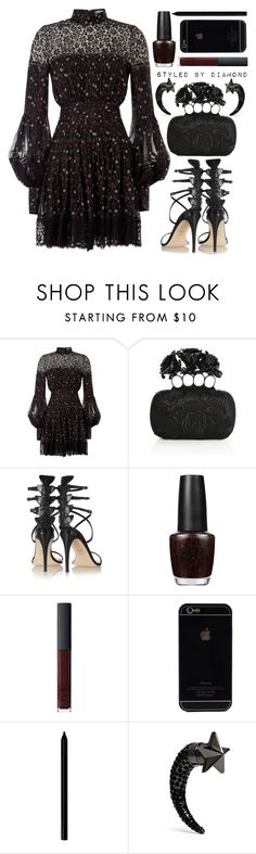 """Boa Noite"" by diamxo ❤ liked on Polyvore featuring Alexander McQueen, Fendi, OPI, NARS Cosmetics, Giorgio Armani and Givenchy"
