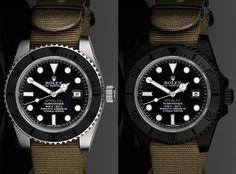 """""""Stealth"""" Rolex Submariner Watch"""
