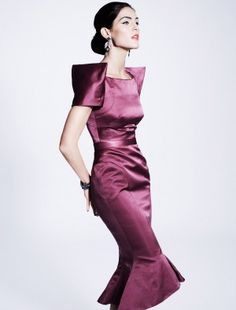 Photos of the runway show or presentation for Zac Posen Pre-Fall 2012 Womenswear Shows in New York. Love Fashion, High Fashion, Fashion Show, 1940s Fashion, Vintage Fashion, Satin Dresses, Gowns, Midi Dresses, Short Dresses