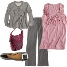 """""""Gray & Pink"""" by kjoirishlastname on Polyvore"""