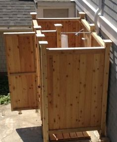 Outdoor Cedar Shower Enclosure With Plans   Great For Summer   Keep Sand /  Dirt Outside   Easy To Assemble   Made In USA