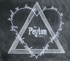 """Adoption Chalkboard featuring the Adoption Symbol   """"Brought together by God, Bound in Love, Built through Adoption""""   Custom Chalkboard by www.facebook.com/chalkonthewall"""