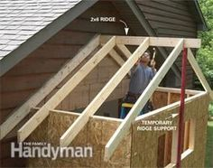How To Build A Shed Roof Outside Projects Pinterest