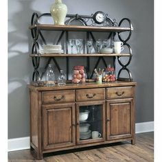 Distressing bakers rack google search accesorios metal for Comedor industrial buffet