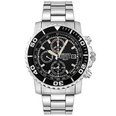 Seiko Men's SNA225 Black Dial Chronograph Watch