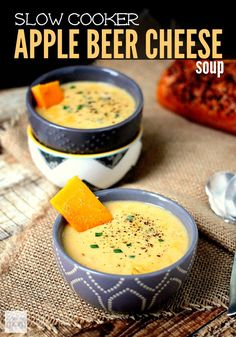 This slow cooker apple beer cheese soup recipe is sweet, bitter and creamy all in one bite. Serve with crusty bread for a meal the whole family will enjoy. Plus, the soup is SUPER QUICK to make and cook. Make in the AM for lunch of afternoon for dinner.