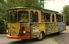 The Gatlinburg trolleys are the best way to get around this bustling and gorgeous town - this is the FREE trolley that runs up and down Parkway, the main downtown street, loaded with shops and attractions.