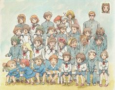 Fan-art, Studio Ghibli characters take a group photo... ^_^
