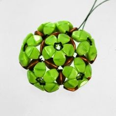 Tutorial Spirala beading: Beaded Pinch-Flower Dodecahedron Module