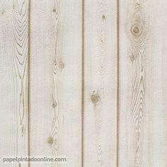 Papel Pintado Con Tablones Pelados Color Blanco Telas Papel Interior  Pinterest.