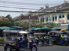 Tuk-Tuks sind ein wichtiges Verkehrsmittel in Thailand. #Thailand #Bangkok #erlebeFernreisen