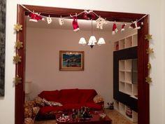 Decorazione natalizia per porta