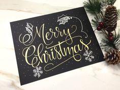 Merry Christmas Sign  Christmas Print  Hand by VialDesignsStudio