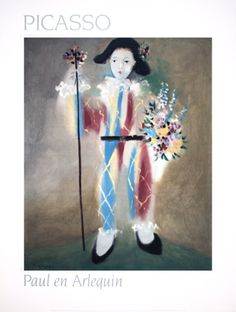 Paul en Arlequin by Pablo Picasso