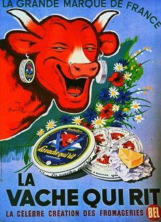 1953 H. Baillé La Vache qui rit | Retro advert