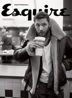 """tomhardyvariations: """"Esquire subscriber edition cover. Photograph by Greg Williams. All clothes, Tom's own. """"""""I've known Tom Hardy since he was 15,"""" Williams says, """"and we have a brotherly relationship, able to be completely honest with each other...."""