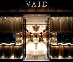 VAID store iteriors by Japanese design company glamorous co ltd Cool Retail, Retail Shop, Retail Bank, Jewelry Store Design, Jewelry Stores, Jewelry Shop, Jewellery Display, Jewelry Ideas, Shop Interior Design
