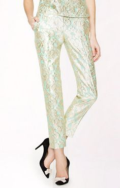 Spring Trends 2013: The Pantsuit; J.Crew Café Capri pants ($148)