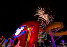 Fireworks Aboard The Disney Magic | They aren't nearly as im… | Flickr