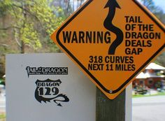 Tail of the dragon -- This is a awesome 11 miles !!!!!!!!!!!!!!!!! I'm going this summer!! So excited!!