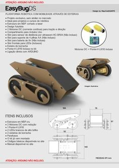 Plataforma robótica de esteiras para Arduino