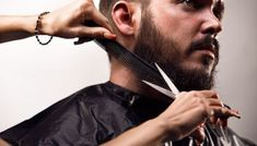 Facial Hair Care Tips Dog Grooming Scissors, Dog Grooming Tips, Beard Grooming, Beards And Mustaches, Beard Fade, Full Beard, Trendy Looks For Men, Barba Grande, Trimming Your Beard