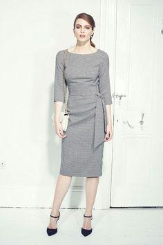 Marnie Dogtooth Pencil Dress