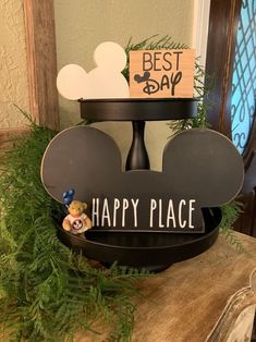 Disneyland Birthday, Disney Home Decor, Mickey Head, Disney Ears, Tray Decor, Best Day Ever, Kind Words, Make Your Own, Signs