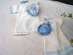 Baby Burial Gown Patterns | Four tiny girls bonnet/gown burial out fits