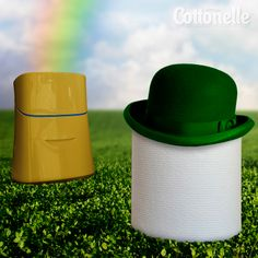 Use Cottonelle Toilet Paper and Flushable Wipes, and you'll be thanking the luck o' the Irish for feeling cleaner and fresher. Happy St. Patrick's Day!